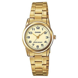 Casio LTP-V001G-9B Gold Plated Watch for Women - Watchportal Philippines
