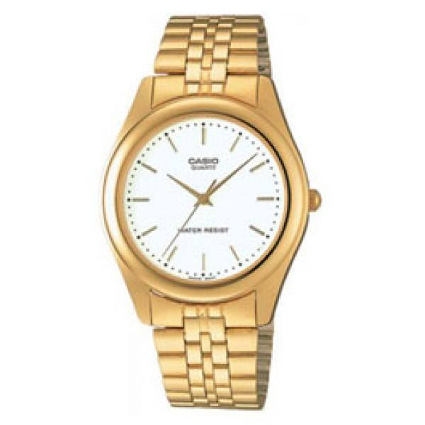 Casio Vintage Unisex Gold Plated Stainless Steel Strap Watch- MTP-1129N-7ARDF (One Size) - For Men and Women - Watchportal Philippines
