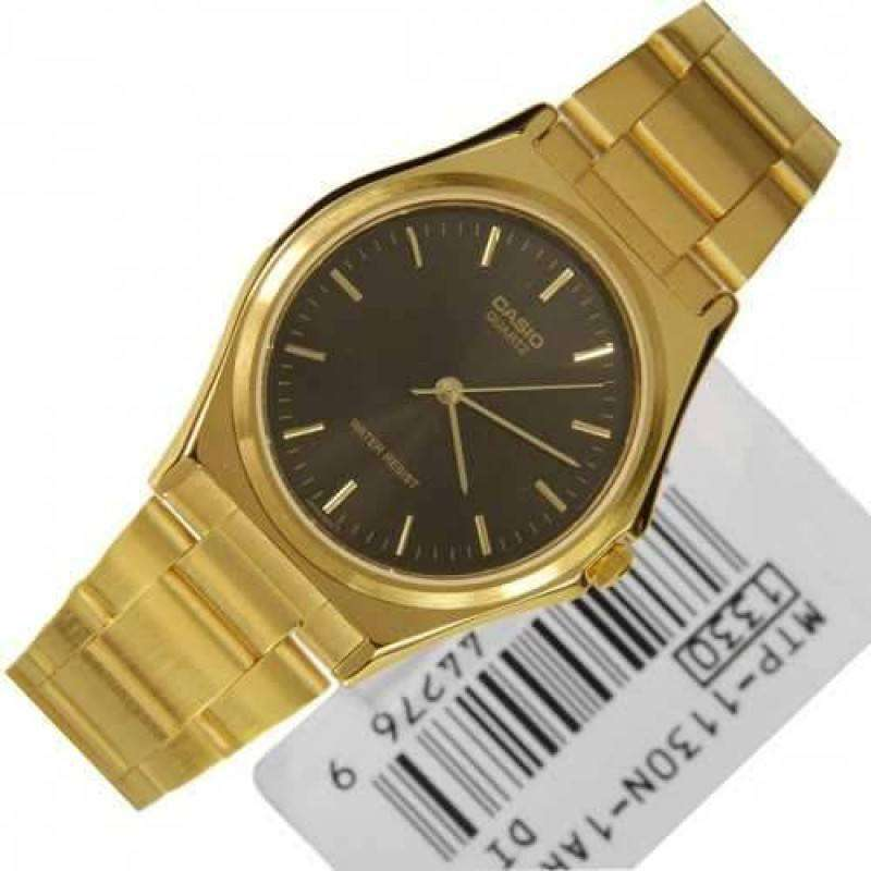 Watches - Casio Vintage Unisex Gold Plated Stainless Steel Strap Watch -MTP-1130N-1ARDF (One Size) - For Men And Women