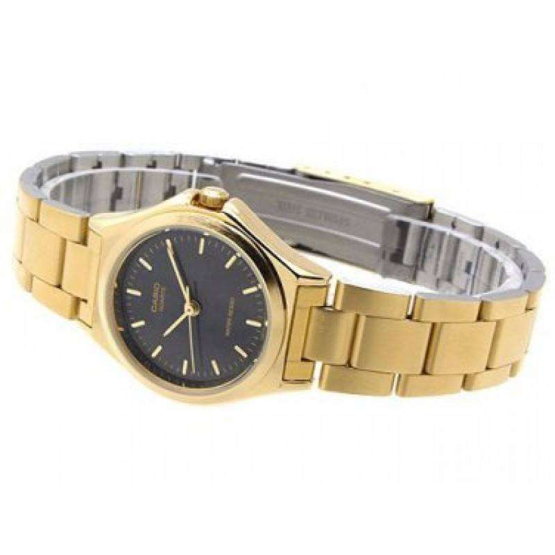 Casio Vintage Unisex Gold Plated Stainless Steel Strap Watch -MTP-1130N-1ARDF (One Size) - For Men and Women - Watchportal Philippines