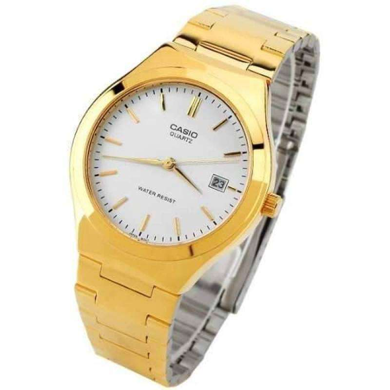 Casio Vintage Unisex Gold Plated Stainless Steel Strap Watch-  MTP-1170N-7ARDF (One Size) - For Men and Women - Watchportal Philippines