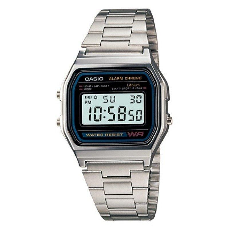 d2e7ac9b5aac Casio Vintage A158WA-1D Silver Stainless Steel Watch For Men and Women