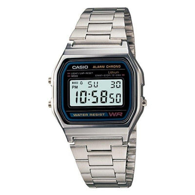 Casio Vintage A158WA-1D Silver Stainless Steel Watch For Men and Women - Watchportal Philippines
