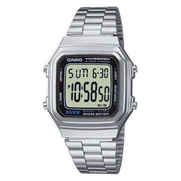 Casio Vintage A178WA-1A Silver Stainless Steel Watch For Men and Women - Watchportal Philippines