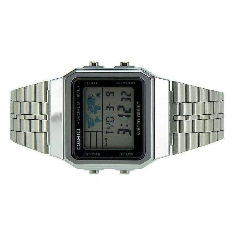 Casio Vintage Unisex Silver Stainless Steel Strap Watch- A500WA-1DF (One Size) - For Men and Women - Watchportal Philippines