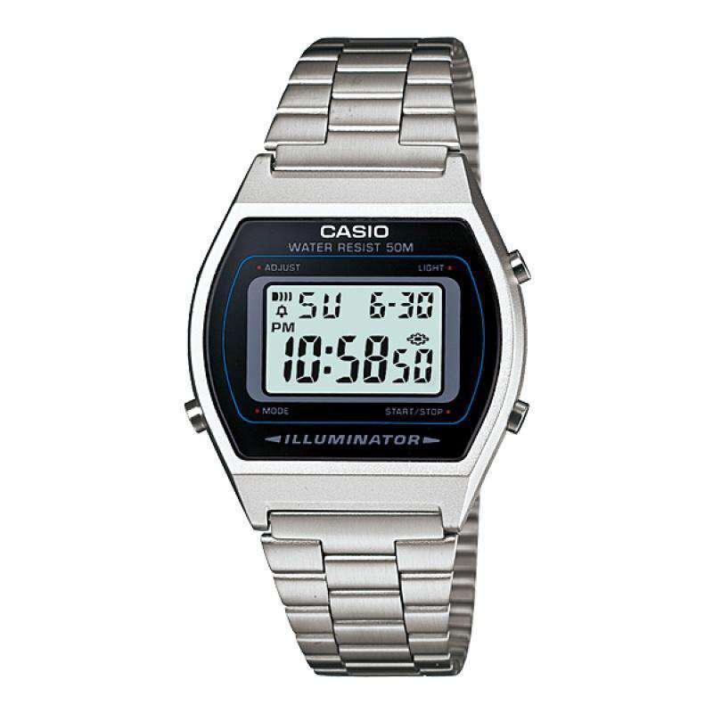 Casio Vintage Unisex Silver Stainless Steel Strap Watch- B640WD-1A (One Size) - For Men and Women - Watchportal Philippines