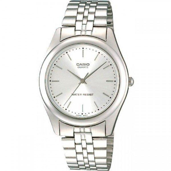 Casio Vintage Unisex Silver Stainless Steel Strap Watch- MTP-1129A-7ARDF (One Size) - For Men and Women - Watchportal Philippines