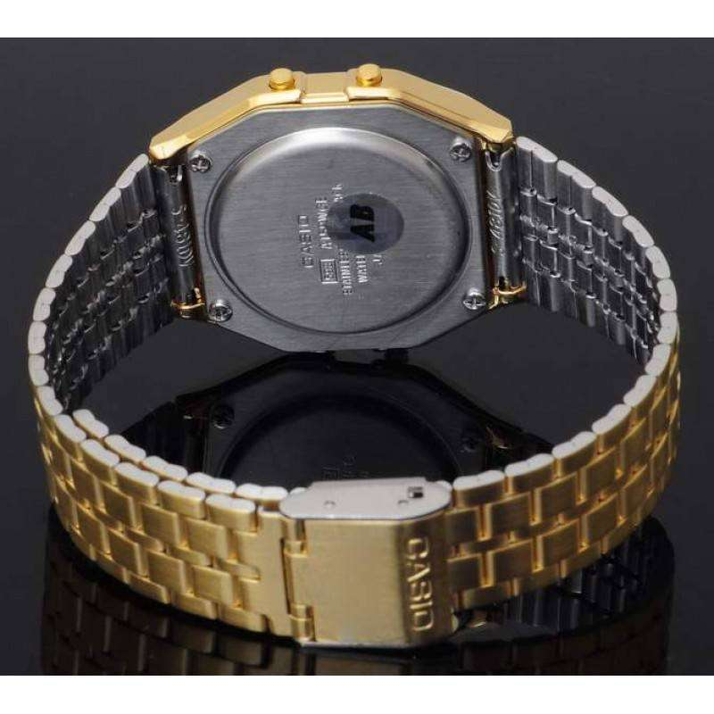 Casio Vintage Women's Gold Plated Stainless Steel Strap Watch- A159WGEA-1DF - Watchportal Philippines