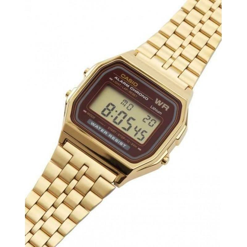 Watches - Casio Vintage Women's Gold Plated Stainless Steel Strap Watch-  A159WGEA-5DF