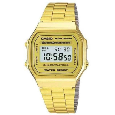 40f5bc8f201c Casio Vintage A168WG-9W Gold Plated Watch For Women and Men