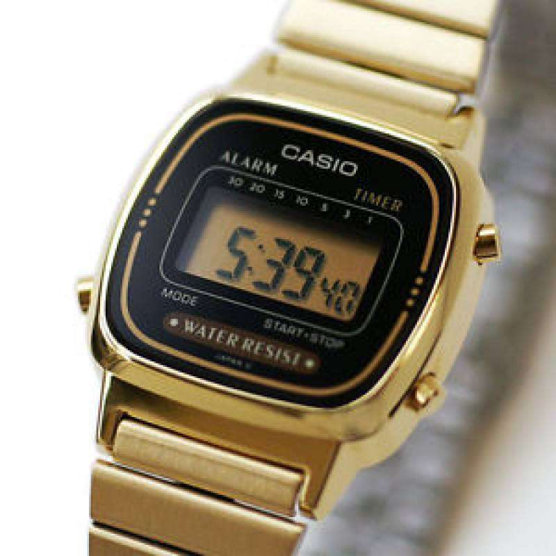 Casio Vintage Women's Gold Plated Stainless Steel Strap Watch- LA670WGA-1D (Small Size) - Watchportal Philippines