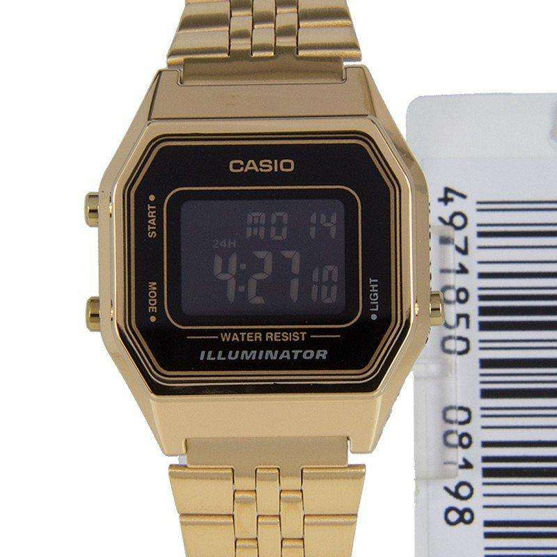 Casio Vintage Women's Gold Plated Stainless Steel Strap  Watch-  LA680WGA-1BDF - Watchportal Philippines