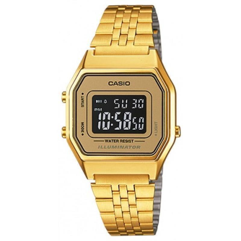 Casio Vintage LA680WGA-9B Gold Plated Watch For Women - Watchportal Philippines
