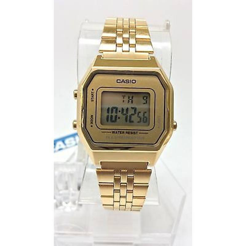 Casio Vintage Women's Gold Plated Stainless Steel Strap Watch- LA680WGA-9D - Watchportal Philippines