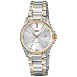 Casio Vintage Women's Silver & Gold Stainless Steel Strap Watch-  LTP-1183G-7ADF - Watchportal Philippines