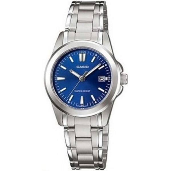 Casio Vintage Women's Silver Stainless Steel Strap Watch- LTP-1215A-2A2DF - Watchportal Philippines