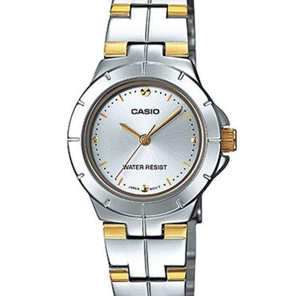 Casio LTP-1242SG-7C Two Tone Stainless Steel Strap Watch for Women - Watchportal Philippines