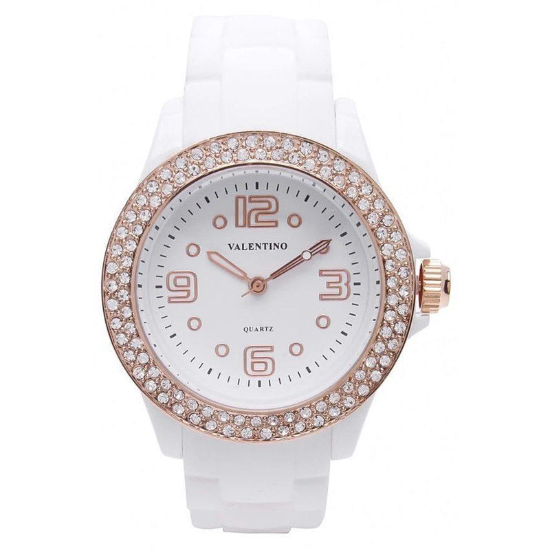 Watches - Valentino CASINO STONE CLASSIC WOMEN  RUBBER STRAP Strap Watch 20121779-WHITE