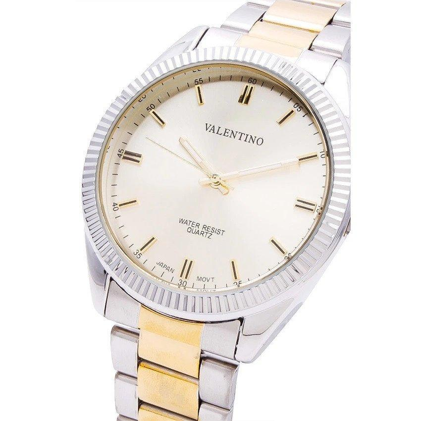 Watches - Valentino CASIO IP GLD MTL STYLE G MEN  STAINLESS BAND Strap Watch 20121677-TWO TONE - GOLD DIAL