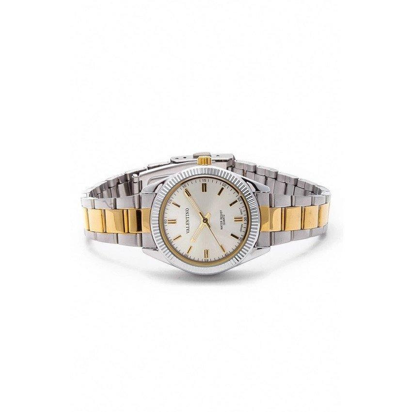 Watches - Valentino CASIO IP GLD MTL STYLE L WOMEN  STAINLESS BAND Strap Watch 20121678-TWO TONE - GOLD DIAL