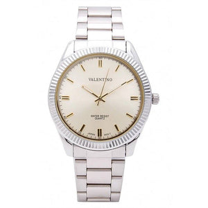 Valentino 20121679-SILVER - GOLD DIAL CASIO IP WHT MTL STYLE G MEN  STAINLESS BAND STRAP Watch for Women