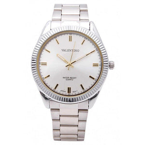 Valentino 20121679-SILVER - SILVER DIAL CASIO IP WHT MTL STYLE G STAINLESS BAND STRAP Watch for Men