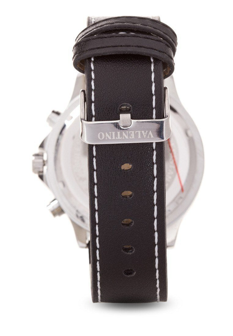 Watches - Valentino CLASSIC TW STL LTHR IPS MEN  LEATHER STRAP Strap Watch 20121931-BLACK DIAL
