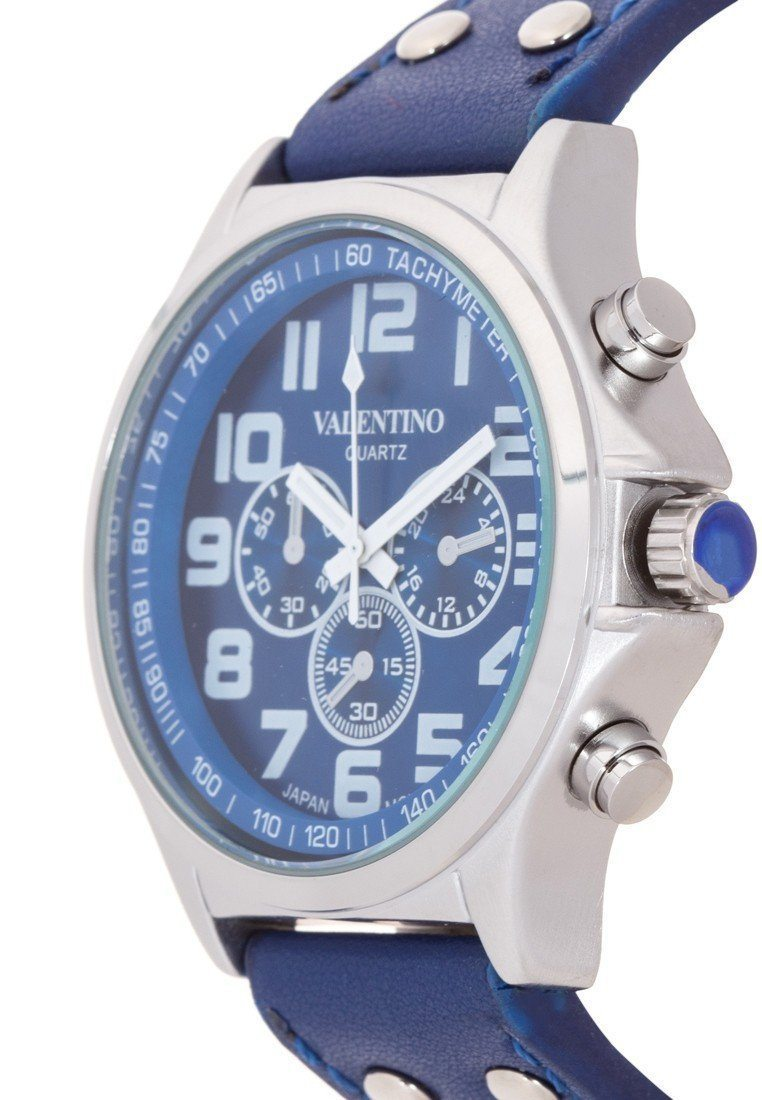 Watches - Valentino CLASSIC TW STL LTHR IPS MEN  LEATHER STRAP Strap Watch 20121931-BLUE DIAL