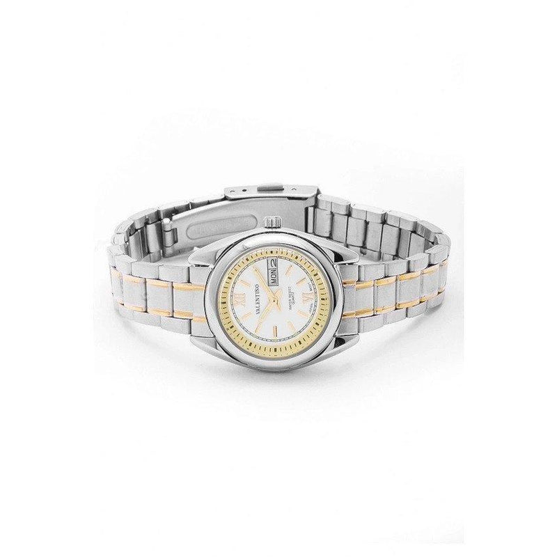 Watches - Valentino CTZ D/D IP GOLD L WOMEN  STAINLESS STEEL BAND Strap Watch 20121685-TWO TONE - GOLD DIAL