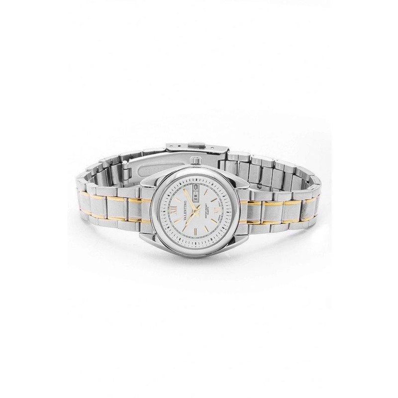 Watches - Valentino CTZ D/D IP GOLD L WOMEN  STAINLESS STEEL BAND Strap Watch 20121685-TWO TONE - WHITE DIAL