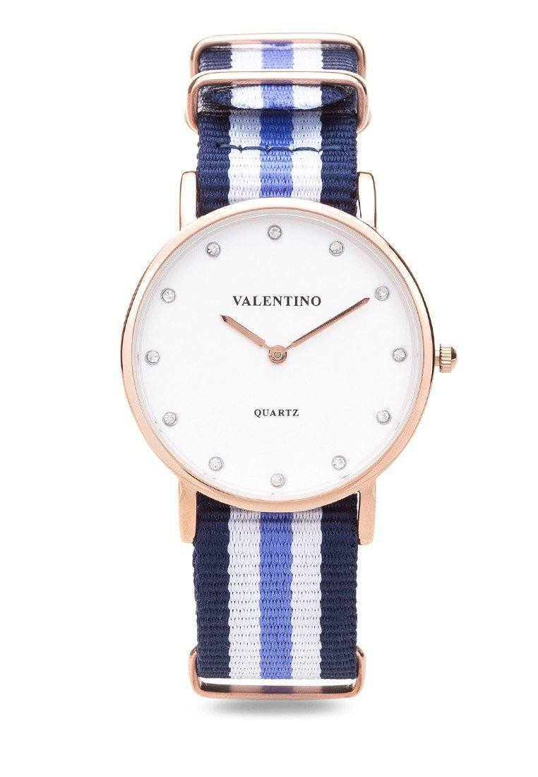 Watches - Valentino D WELLINGTON RG L WOMEN  NYLON STRAP Strap Watch 20121902-DBLUE WHT BLUE - STONE