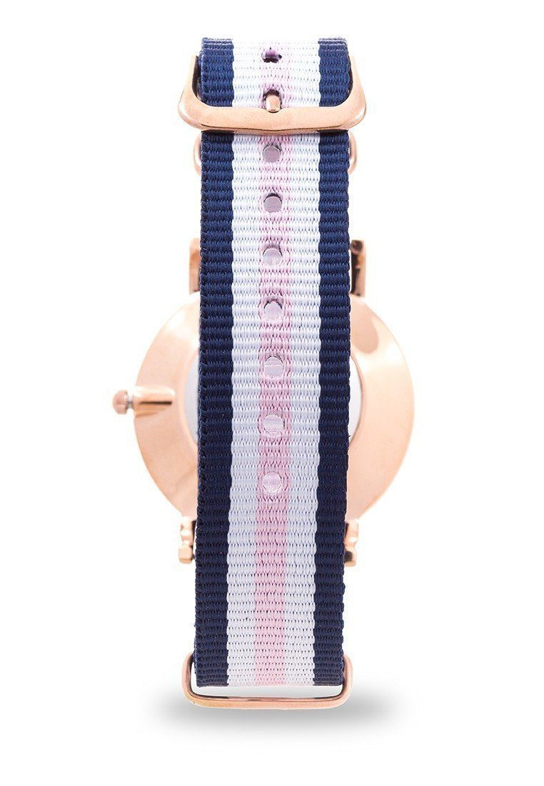 Watches - Valentino D WELLINGTON RG L WOMEN  NYLON STRAP Strap Watch 20121902-DBLUE WHT PINK - LINE