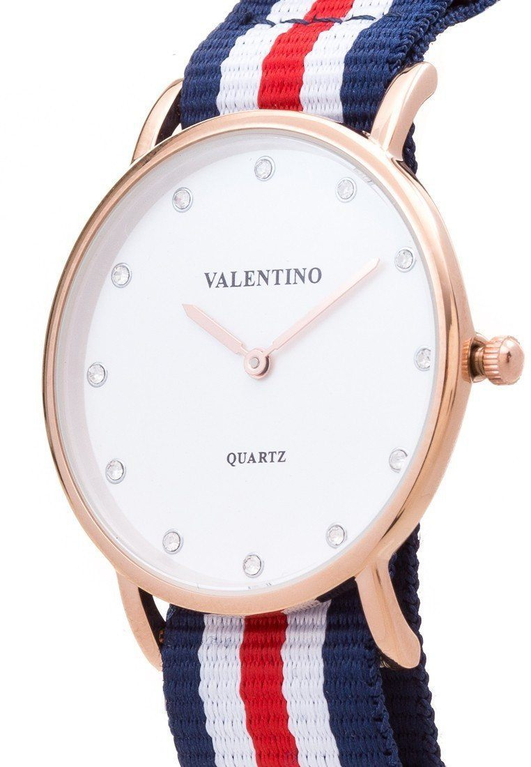 Watches - Valentino D WELLINGTON RG L WOMEN  NYLON STRAP Strap Watch 20121902-DBLUE WHT RED - STONE