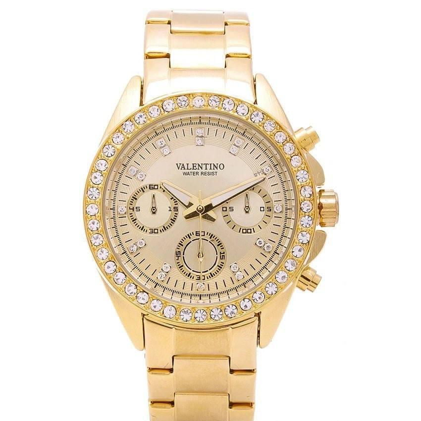 Watches - Valentino EXCALIBUR IP GOLD WOMEN  STAINLESS STEEL BAND Strap Watch 20121502-GOLD - GOLD DIAL