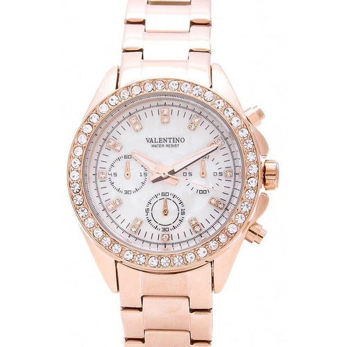 Watches - Valentino EXCALIBUR IP ROSE GOLD WOMEN  STAINLESS STEEL BAND Strap Watch 20121662-ROSE GOLD - MOP DIAL
