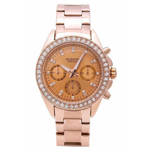 Watches - Valentino EXCALIBUR IP ROSE GOLD WOMEN  STAINLESS STEEL BAND Strap Watch 20121662-ROSE GOLD - ROSE DIAL