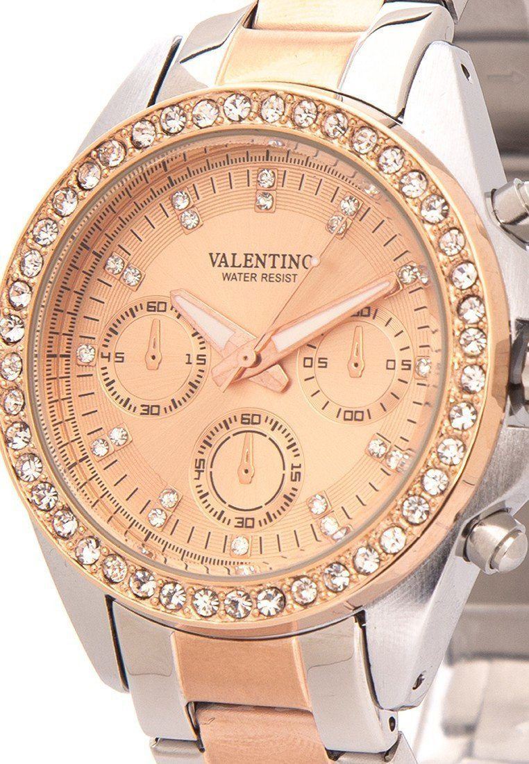 Watches - Valentino EXCALIBUR IP ROSE GOLD WOMEN  STAINLESS STEEL BAND Strap Watch 20121662-TWO TONE - ROSE DIAL