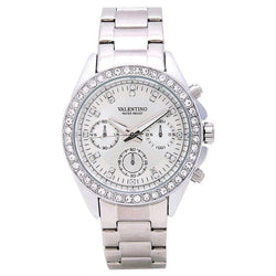 Watches - Valentino EXCALIBUR IP WHITE WOMEN  STAINLESS STEEL BAND Strap Watch 20121503-WHITE - SILVER DIAL