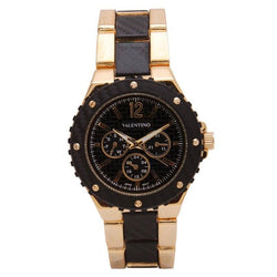 Watches - Valentino FOSSIL SPORTS IP STYLE WOMEN  FASHION METAL - ALLOY Strap Watch 20121835-GOLD AND BLACK