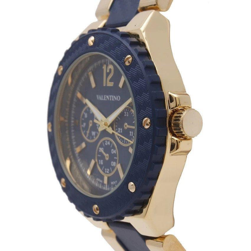 Watches - Valentino FOSSIL SPORTS IP STYLE WOMEN  FASHION METAL - ALLOY Strap Watch 20121835-GOLD AND BLUE