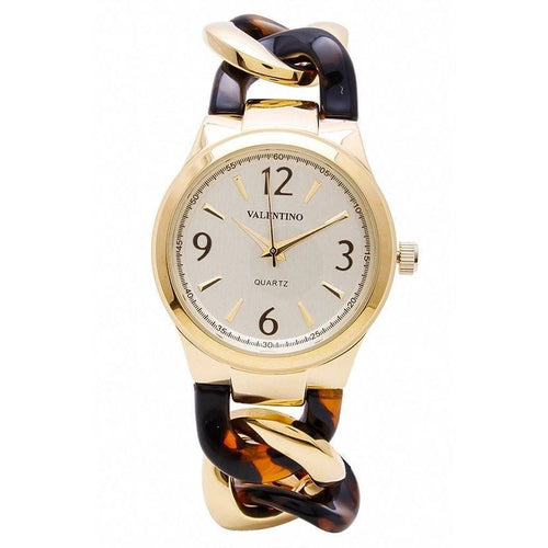 Watches - Valentino MK TORTOISE STYLE WOMEN  FASHION METAL - ALLOY Strap Watch 20121770-GOLD AND BROWN