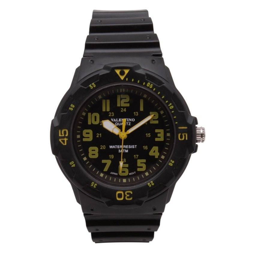 Watches - Valentino MRW SPORTS STYLE MEN  RUBBER STRAP Strap Watch 20121811-YELLOW INDEX