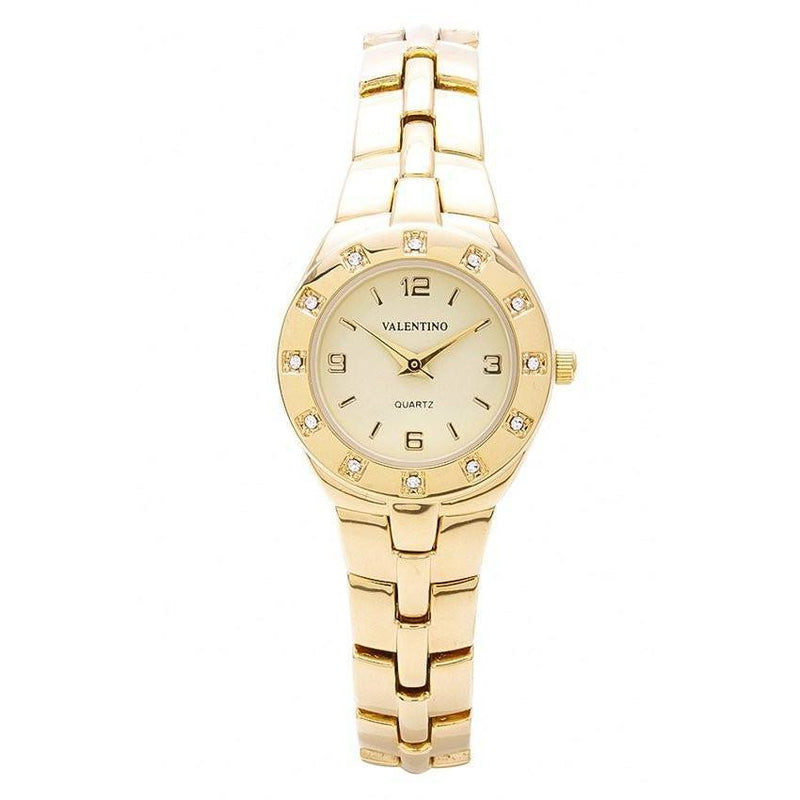 Watches - Valentino OMEGA IP CLASSIC STYLE WOMEN  FASHION METAL - ALLOY Strap Watch 20121760-GOLD - GOLD DIAL