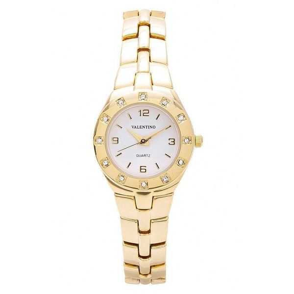 Watches - Valentino OMEGA IP CLASSIC STYLE WOMEN  FASHION METAL - ALLOY Strap Watch 20121760-GOLD - WHITE DIAL
