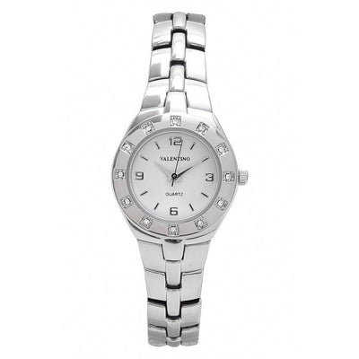 Watches - Valentino OMEGA IP CLASSIC STYLE WOMEN  FASHION METAL - ALLOY Strap Watch 20121760-SILVER - WHITE DIAL
