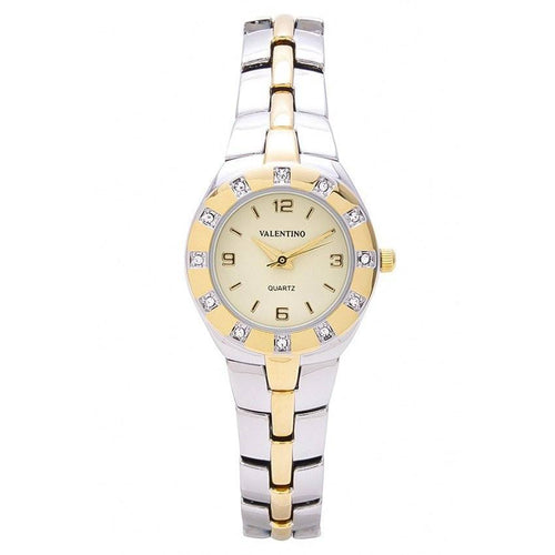 Watches - Valentino OMEGA IP CLASSIC STYLE WOMEN  FASHION METAL - ALLOY Strap Watch 20121760-TWO TONE - GOLD DIAL