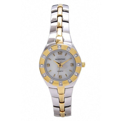 Watches - Valentino OMEGA IP CLASSIC STYLE WOMEN  FASHION METAL - ALLOY Strap Watch 20121760-TWO TONE - WHITE DIAL