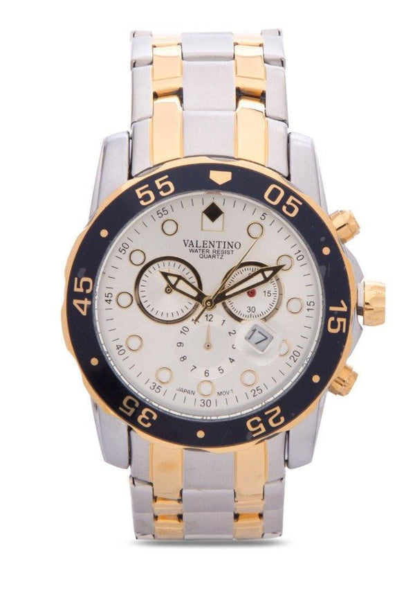 Watches - Valentino ORIENT CLSC WD IPG STYLE MEN  STAINLESS BAND Strap Watch 20121883-TWO TONE - SILVER DIAL