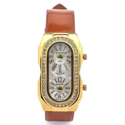 Watches - Valentino P STEIN CLASSIC LTHR IP WOMEN  GENUINE LEATHER STRAP Strap Watch 20121755-BROWN