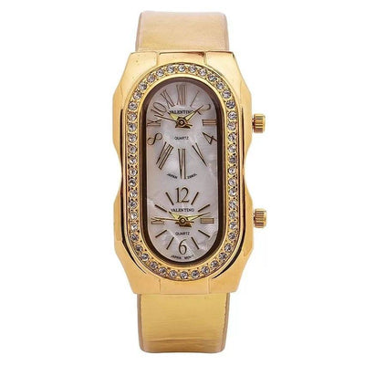 Watches - Valentino P STEIN CLASSIC LTHR IP WOMEN  GENUINE LEATHER STRAP Strap Watch 20121755-GOLD